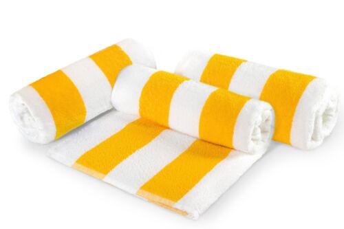 """Classic Cabana Stripe Oversize Beach Towel 30/""""x70/"""" 100/% Cotton 3 Piece Set"""
