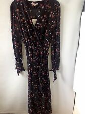 M&S Collection Limited London Cuff Detail Long Sleeve Dress With Belt Size: 8