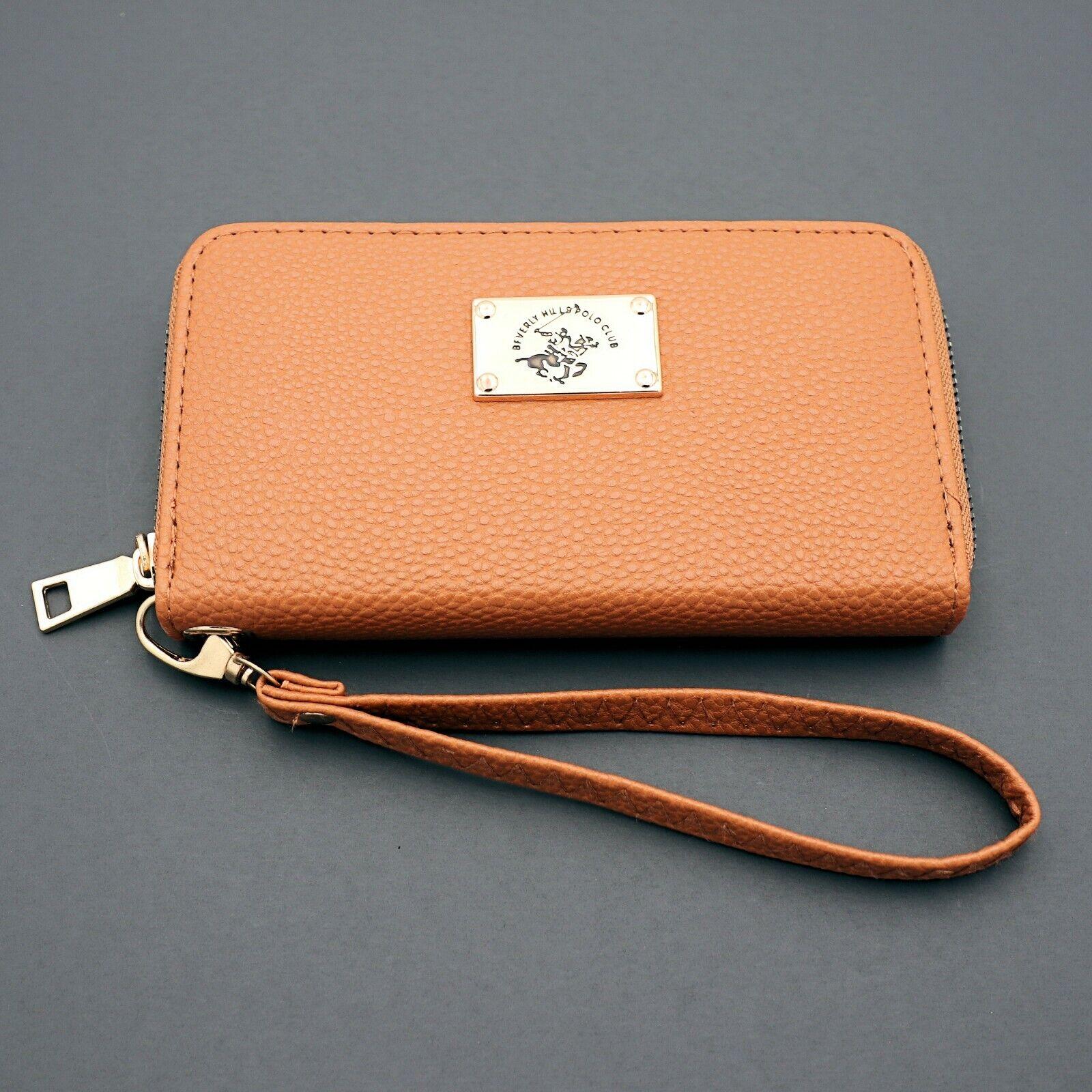 Beverly Hills Polo Club Croc Faux Leather Wristlet Clutch W// Zip Around Wallet