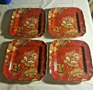 4-222-Fifth-GABRIELLE-Red-Square-Dessert-Appertizer-Plates-6-1-4-034