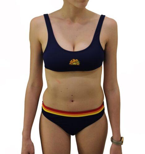 Costume da bagno due pezzi Sundek bikini top donna  mare estate piscina blu