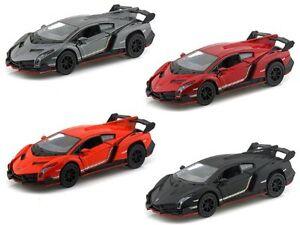 Brand-New-5-034-Kinsmart-Lamborghini-Veneno-Diecast-Model-Toy-Car-1-36-Set-of-4