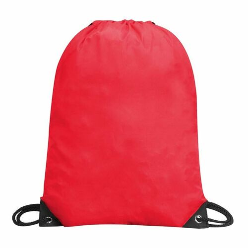 GYM BAG WITH DRAWSTRING 10 COLORS LUNCH GYM SPORT BOYS GIRLS WATER RESISTANT