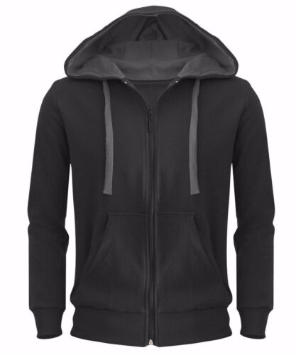 New Plain Men Hoodie American Fleece Zip Up Sweatshirt Hooded Top Jacket Casual