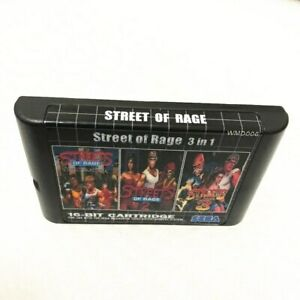 Details about Streets of Rage 3 in 1 Trilogy - Sega Genesis Collection Mega  Drive Multi Cart 2