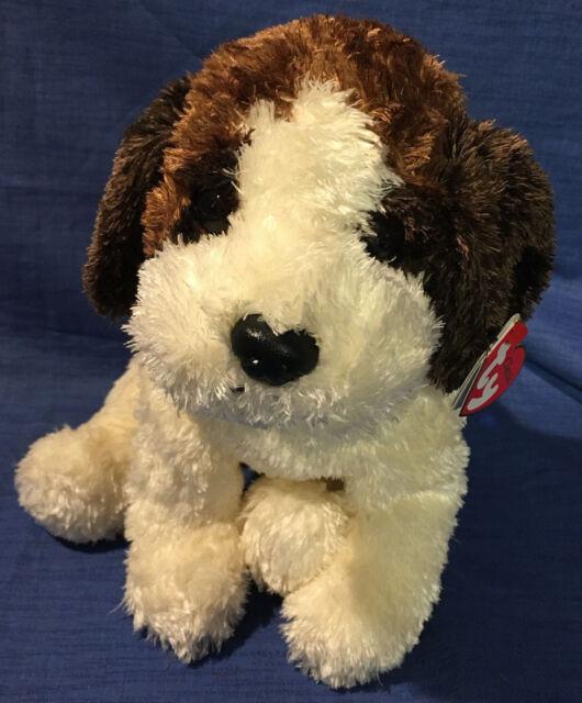 Ty Classic Brown Puppy Dog Rescue St Bernard Plush 2000 Stuffed Animal  TySilk