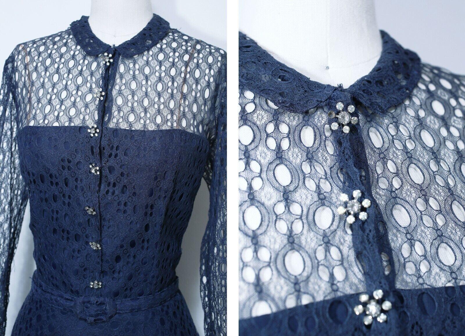 Vintage 1950s Designer Label   Ceil Chapman Dress… - image 3