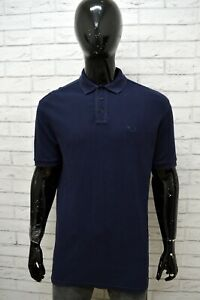 Polo-FILA-Uomo-Taglia-XL-Maglia-Maglietta-Camicia-Shirt-Cotone-Manica-Corta-Blu