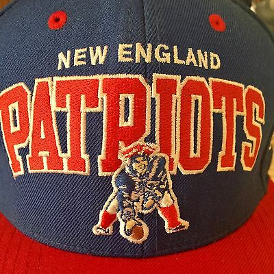 fac81d12 NEW ENGLAND Patriots NFL Snapback Hat Mitchell Ness Embroidered Cap Blue |  eBay