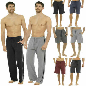 2 Pack Mens Pyjamas Bottoms Short / Long Nightwear Lounge Pants Joggers Shorts Um Jeden Preis