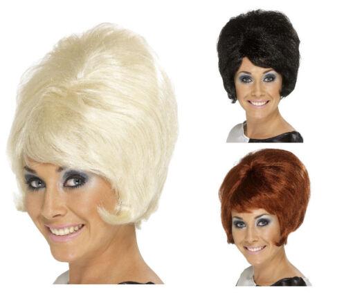 Beehive Wig Auburn Blonde Black 50s 60s 70s Ladies MOD Fancy Dress New