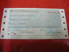 FS-BIGLIETTO FERROVIE DELLO STATO-TORINO PORTA NUOVA/VENEZIA S.LUCIA-1987-TRENI