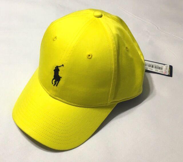 POLO RALPH LAUREN Men s Blend Baseline Performance Hat Sport Ball Cap Yellow  NWT 73315a306f8