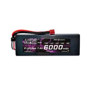 HRB-7-4V-2S-Lipo-Batterie-6000mAh-Hardcase-60C-120C-Deans-RC-Traxxas-Akku