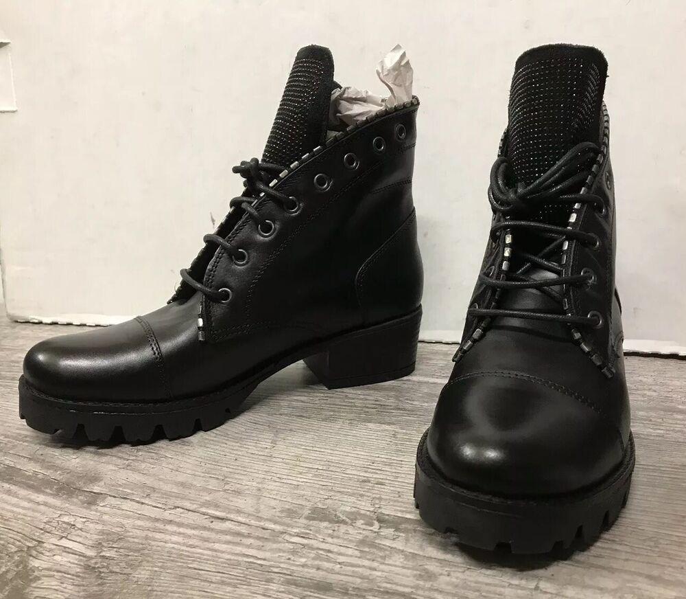 Destockage Neuf : Boots / Rangers Marque Xlei Cuir Noir T 39 @ Neuf 159€ @ N245