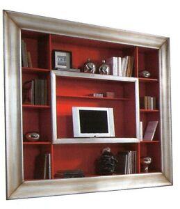 PARETE ATTREZZATA MODERNA PORTA TV PLASMA LCD SOGGIORNO MODERNO ...