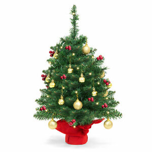 image is loading bcp 22in tabletop christmas tree w lights berries
