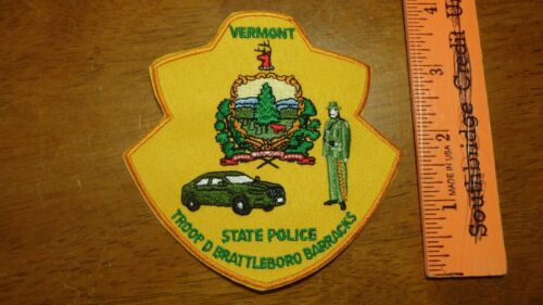 RARE VERMONT STATE POLICE TROOP D BRATTLEBORO   BARRACKS STATE HIGHWAY PATROL