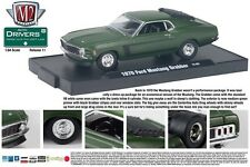M2 MACHINE 1:64 SCALE DIECAST METAL MATTE GREEN 1970 FORD MUSTANG GRABBER