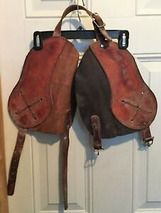 Leather Horn Wraps Bull Calf Safety Cowboy Bronc Rodeo Roping J Bar E 15