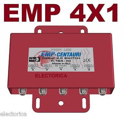 EMP-CENTAURI 4X1 DiSEqC MULTI-SWITCH LNB FTA DISH FREE TO AIR WEATHER PROOF