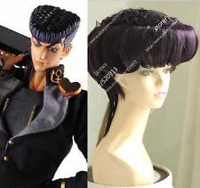 JoJo's Bizarre Adventure Josuke Higashikata Deep Purple Styled Cosplay Wig N014