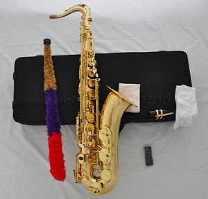 Details about Professional Bb Gold Tenor Saxophone sax high F# Low b and C  FREE Metal mouthpis