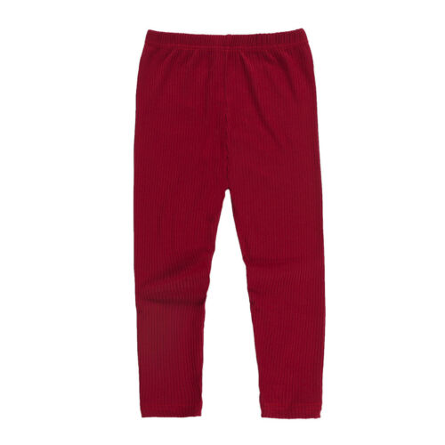 Infant Baby Girl Boy Winter Leggings Solid Knee-length Pants Warm Cotton Clothes