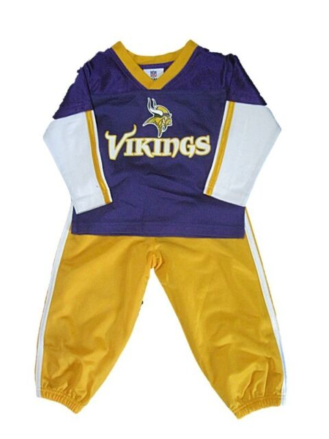 hot sale online 08da7 a0b84 NEW NFL Toddler Minnesota Vikings Outfit Size 2T-4T Boys Nylon Sweatsuit Set
