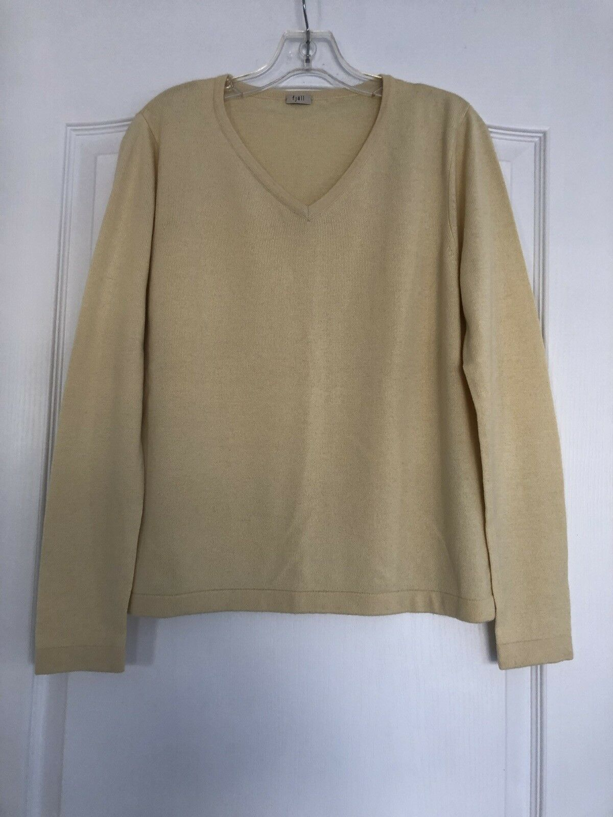 Fjallraven Women's Silk, Cashmere, Wool Sweater - Soft Yellow - Medium NWOT