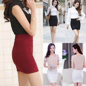 Sexy-Women-039-s-Formal-Stretch-High-Waist-Bodycon-Short-Mini-Skirt-Pencil-Dress