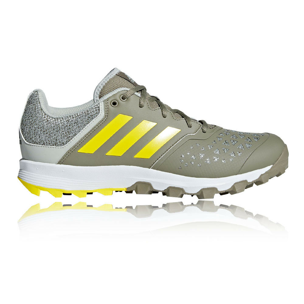 adidas Mens FlexCloud Hockey Shoes Pitch Field Green Sports Breathable