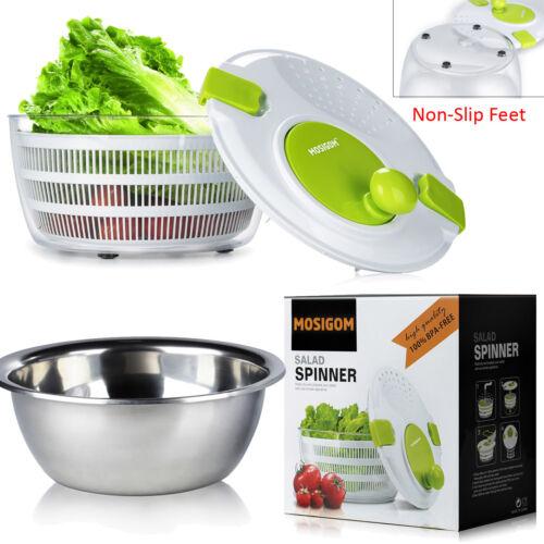 Stainless Steel MOSIGOM See-Through Soft Fruit Vegetable Colander Dryer Bowl