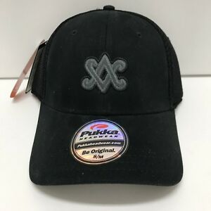 SCOTTY CAMERON Black Mesh SC Diamond Pukka Fitted Golf Hat S M - NWT ... 5e3bc2ac698