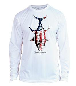 Download Microfiber Long Sleeve UPF 50 Yellowfin Tuna Fishing Shirt ...