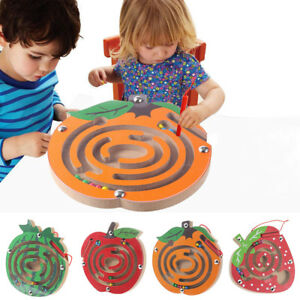 Kids-Magnetic-Maze-Toys-Kids-Wooden-Game-Toy-Wooden-Intellectual-Jigsaw-Board-X