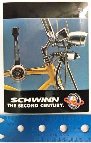 Sticker Vintage Schwinn The Second Century Lemon Peeler Hang-Tag NOS