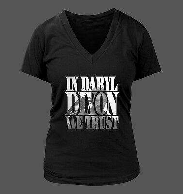 In Daryl Dixon We Trust Women's V-Neck T-Shirt - The Walking Dead TWD #205