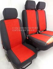 VAUXHALL VIVARO / RENAULT TRAFIC UPTO 2013  VAN SEAT COVERS  RED  VELOUR P30RD