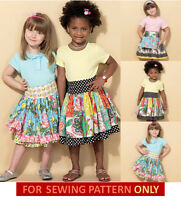 Sewing Pattern Make Girls Boutique Style Skirts School Clothes Sizes 3-6/7-14