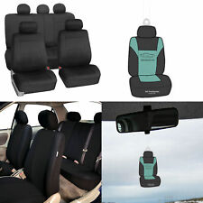 Neoprene Car Seat Covers Full Set For Auto Car Suv Coupe Black With Freshener Fits Jeep Cherokee
