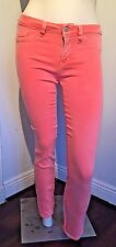 GUESS by Marciano Women's Brittney Skinny Jeans Denim Orange Color size 29