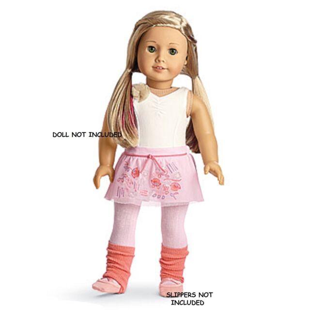 bcb0836bea American Girl Isabelle s Mix   Match Outfit   12 Leotard Skort Legwarmers  NIB LE