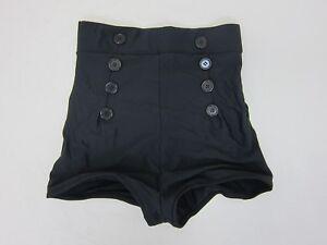 Pinky-Pinups-Women-039-s-High-Waisted-Pin-Me-Up-Shorts-Medium-Black-NWT