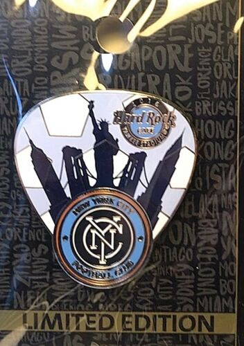 Hard Rock Cafe Yankee Stadium Major League Soccer NYC Football Club Pick Pin NEW