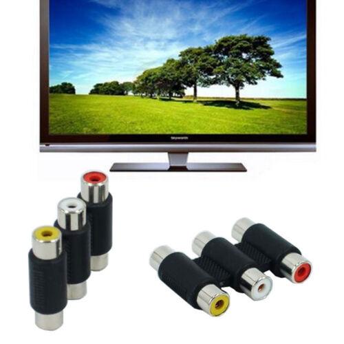 AV Audio Video Verbinder 3 Cinch RCA Buchse auf Chinch Buchse Kupplung-Adapter