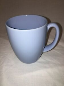 Lot-of-4-CORELLE-Stoneware-LIGHT-BLUE-COFFEE-MUGS-CUPS-12OZ