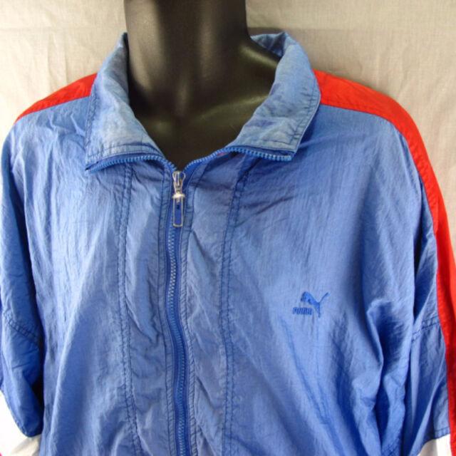 8b6ee18ac5 Puma Vintage Windbreaker Track Jacket XL Blue Extra Large Wind Coat Adult  Zipper