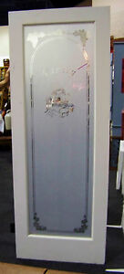 ... 80x30-White-Etched-Frosted-Glass-Nouveau-PANTRY-Interior- & 80x30 White Etched Frosted Glass Nouveau PANTRY Interior Door ... Pezcame.Com