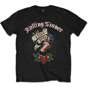 The-Rolling-Stones-Miss-You-Album-Cover-Tattoo-Official-Black-Mens-T-shirt